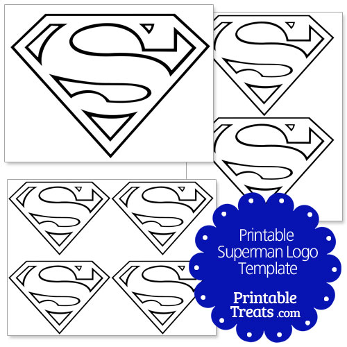 printable superman logo template � printable treatscom