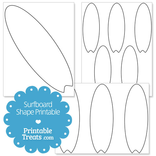 Unusual image regarding printable surfboard templates