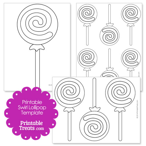 Clean image regarding lollipop template printable