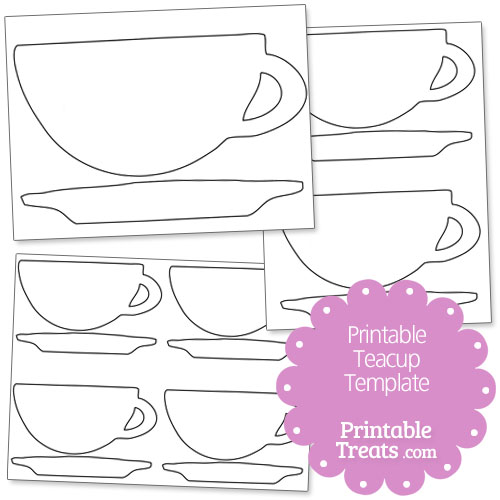 Printable Teacup Template Printable Treats