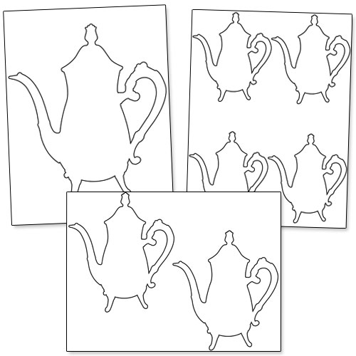 Printable Teapot Stencil — Printable Treats.com