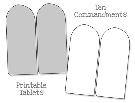 printable ten commandments tablets