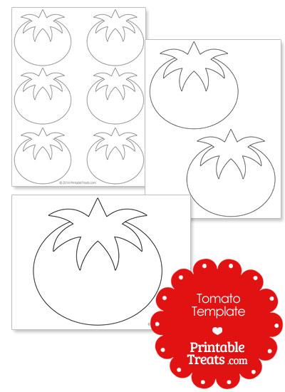 Printable Tomato Shape Template From PrintableTreats