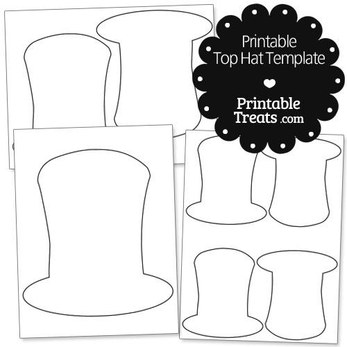 printable top hat template printable treats com