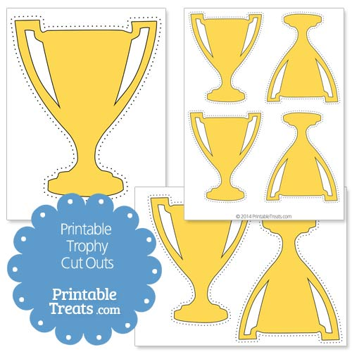 graphic regarding Printable Trophy called Printable Trophy Slash Outs Printable