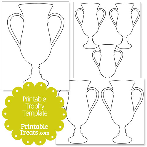 Printable Trophy Template Treats