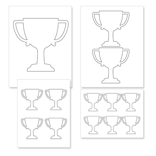 Free Printable Trophy Template Treats