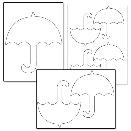 Printable Umbrella Template — Printable Treats.Com