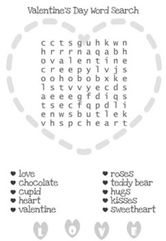 printable valentine word search printable valentines day word search