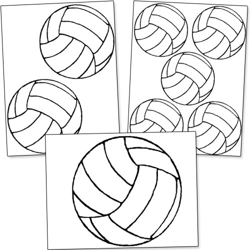 Geeky image for printable volleyball