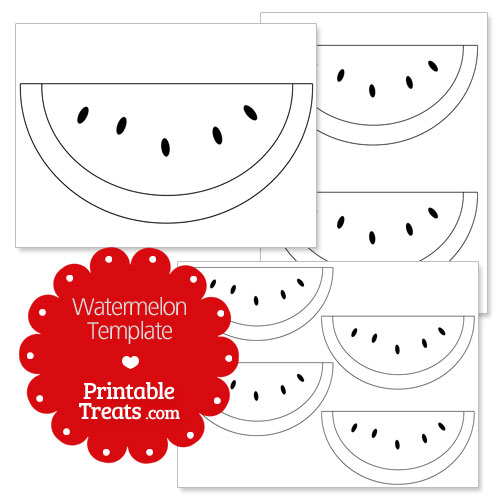 Printable Watermelon Template — Printable Treats.com