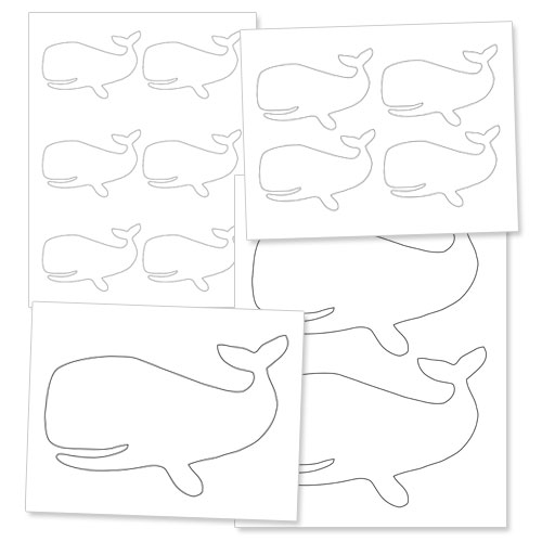 printable whale template