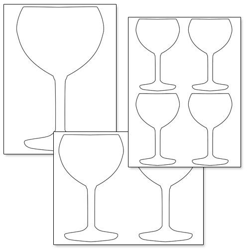 Printable Wine Gl Shape