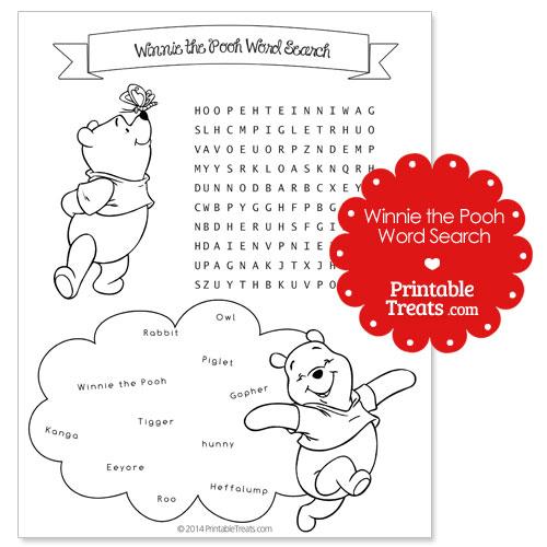 printable Winnie the Pooh word search