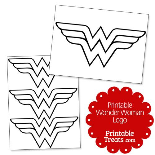Printable Wonder Woman Logo — Printable Treats.com