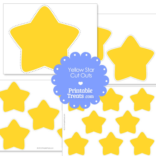 Peaceful image with printable yellow stars