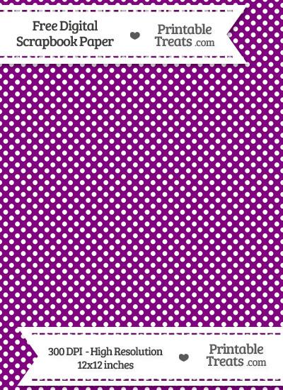 Purple Raised Mini Polka Dots Digital Paper from PrintableTreats.com