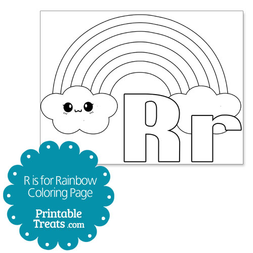 r is for rainbow coloring page printable treats com
