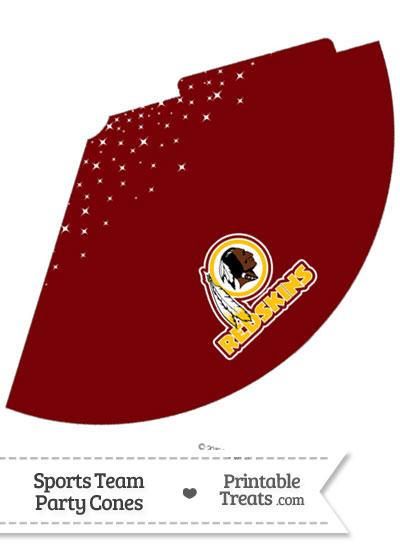 Redskins Party Cone Printable from PrintableTreats.com