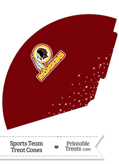Redskins Treat Cone Printable from PrintableTreats.com