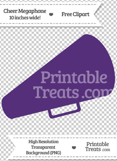 Royal Purple Cheer Megaphone Clipart from PrintableTreats.com
