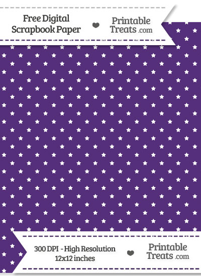 Royal Purple Mini Stars Digital Paper from PrintableTreats.com