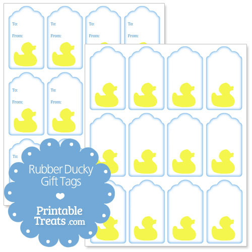 photograph about Rubber Ducky Printable named Rubber Ducky Present Tags Printable