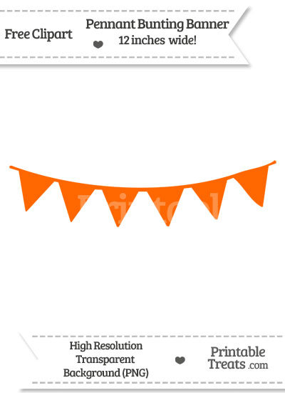 Safety Orange Pennant Bunting Banner Clipart Printable Treats Com