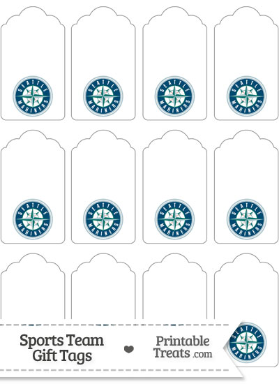 Seattle Mariners Gift Tags from PrintableTreats.com