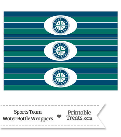 Seattle Mariners Water Bottle Wrappers from PrintableTreats.com