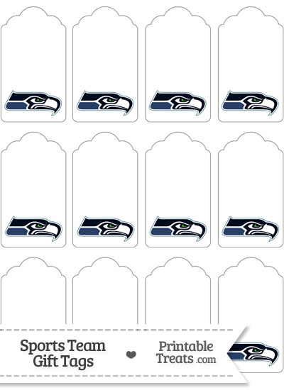 Seattle Seahawks Gift Tags from PrintableTreats.com