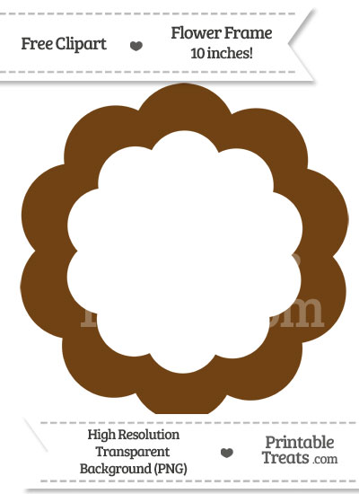 Sepia Flower Frame Clipart from PrintableTreats.com