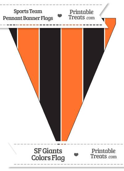 sf giants colors pennant banner flag printable. Black Bedroom Furniture Sets. Home Design Ideas