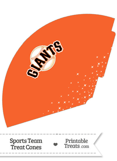 SF Giants Treat Cone Printable from PrintableTreats.com