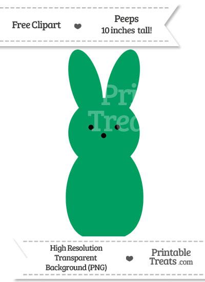 Shamrock Green Peeps Clipart from PrintableTreats.com