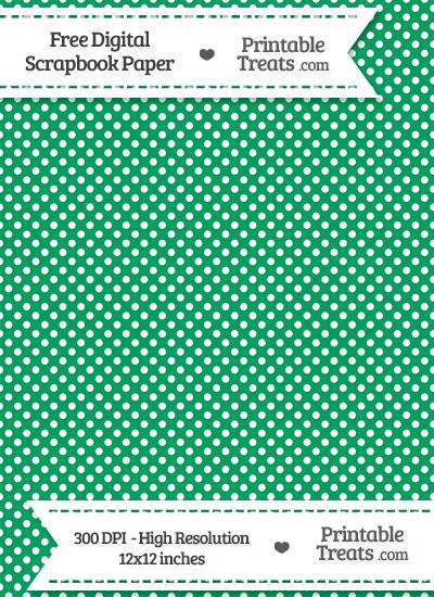 Shamrock Green Raised Mini Polka Dots Digital Paper from PrintableTreats.com