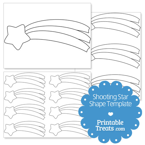 shooting star shape template printable treats com