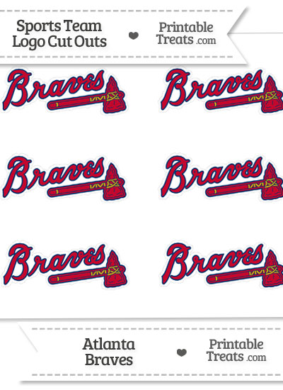 image regarding Atlanta Braves Schedule Printable referred to as Very low Atlanta Braves Brand Slash Outs Printable
