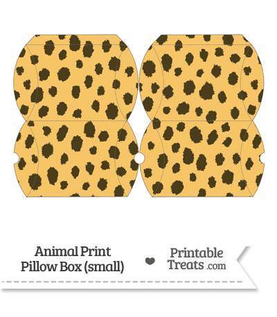 Small Cheetah Print Pillow Box from PrintableTreats.com