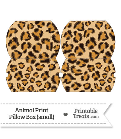 Small Leopard Print Pillow Box from PrintableTreats.com