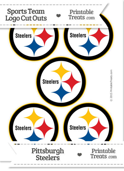 Small Pittsburgh Steelers Logo Cut Outs Printable Treats