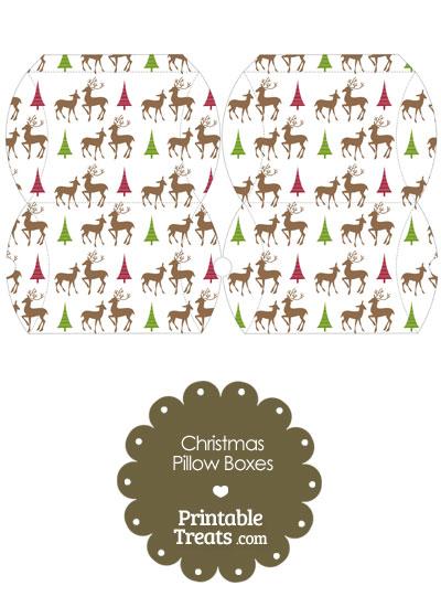 Small Reindeer Pillow Box from PrintableTreats.com