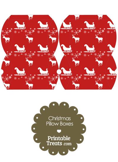Small Santas Sleigh Pillow Box from PrintableTreats.com