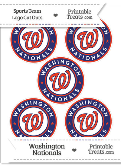 image about Washington Nationals Printable Schedule named Reduced Washington Nationals Emblem Reduce Outs Printable