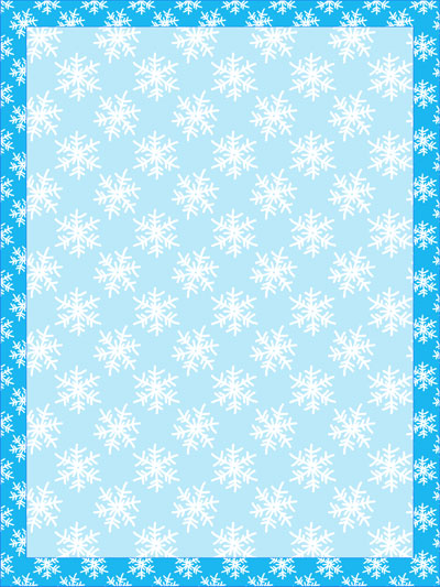 Stationery Paper Templates Snowflake Stationery Template