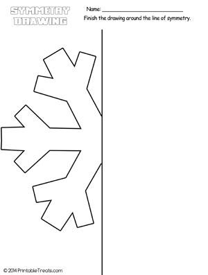 snowflake symmetry drawing worksheet printable. Black Bedroom Furniture Sets. Home Design Ideas