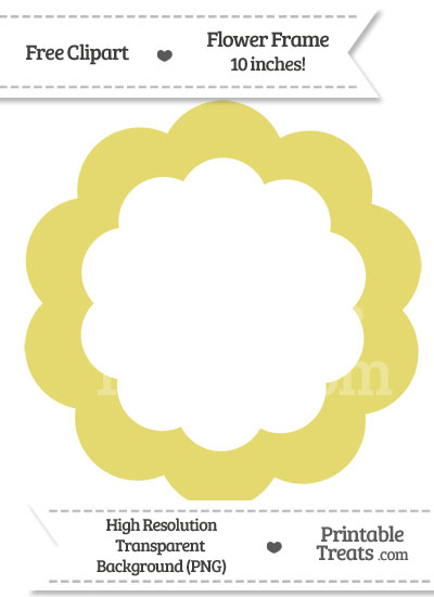 Straw Yellow Flower Frame Clipart from PrintableTreats.com