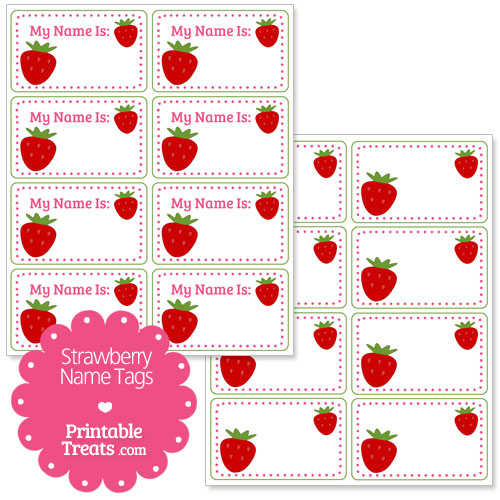 strawberry name tags