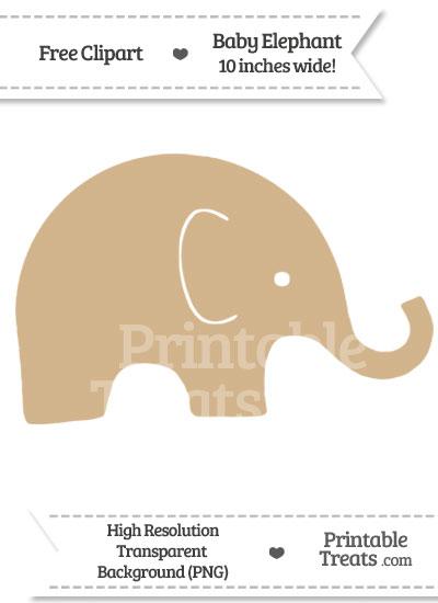 Tan Baby Elepha... Elephant Printable Clipart