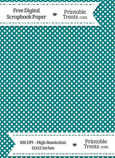 Teal Raised Mini Polka Dots Digital Paper from PrintableTreats.com